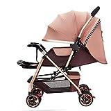 Carritos y sillas de Paseo El Cochecito de bebé se Puede sentar Reclinando la luz del Paraguas del bebé Alto Paisaje de Dos vías Niño recién Nacido Cochecito de bebé Bebé Sillas de Paseo