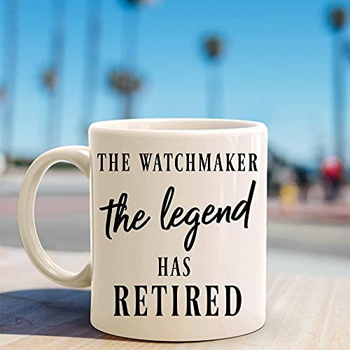 Divertida taza de café, taza de té, relojero, jubilación, jubilación de relojeros, jubilaciones de relojeros, jubilación de relojeros, relojeros, jubilación de relojero para hombres, mujeres, niños