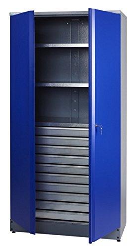 Küpper Material- / Hochschrank 70597, 91x180x45cm, 2 stabile Fachböden mit je 75 kg Tragkraft, 10...