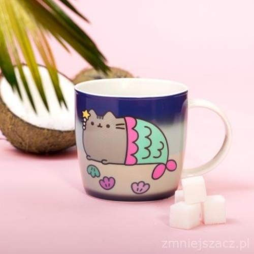 Thumbs Up Pusheen cambia de color taza, cerámica, blanco, 11,5 x 8 x 8,5 cm