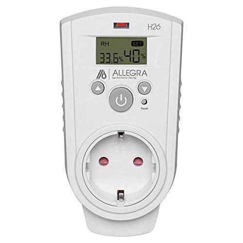 ALLEGRA Steckdosen-Hygrostat Feuchteregler Hygrometer Controller Temperaturregler Luftentfeuchter Luftbefeuchter Entfeuchtung Luftfeuchtigkeit Feuchteregler 16A (H26)