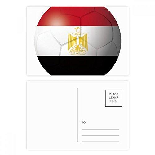 DIYthinker Ägypten NationalFlaggege Fußball-Fußball-Postkartenset Geburtstag dankt Karte Mailing Side 20pcs 5.7 Zoll x 3.8 Zoll Mehrfarbig