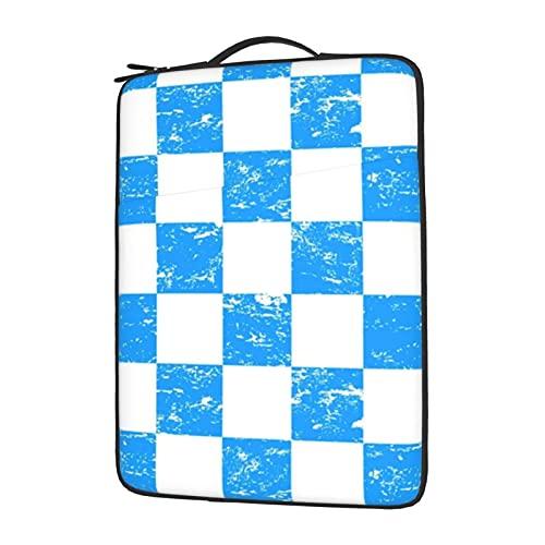 Funda para portátil de 13 a 15,6 pulgadas, color blanco y azul neón, resistente al agua, funda protectora de neopreno compatible con...