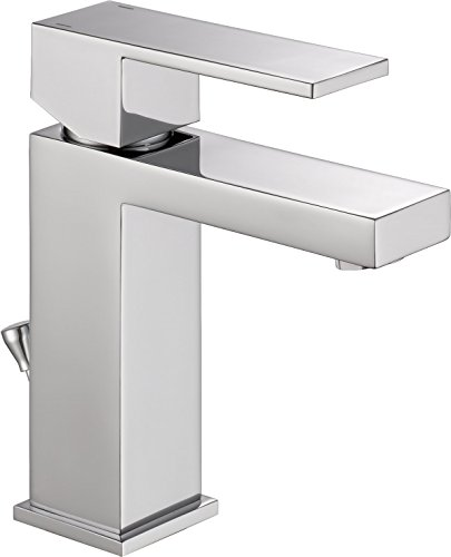 Delta Faucet Modern Single Hole Bathroom Faucet, Single Handle Bathroom Faucet Chrome, Bathroom Sink Faucet, Drain Assembly, Chrome 567LF-PP