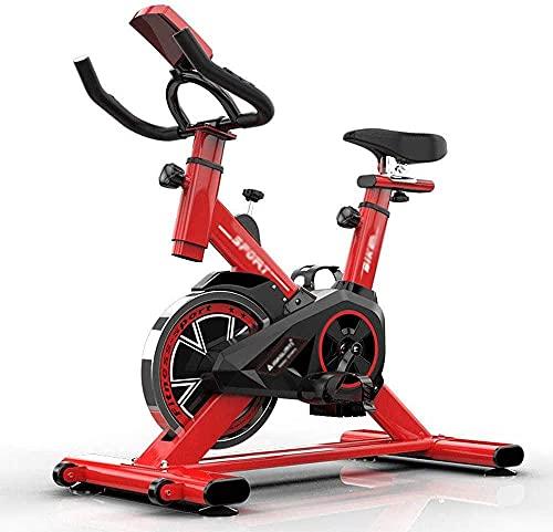 YXYY Bicicleta estática Ergómetro de Volante Bicicleta estática con Control de Resistencia magnética Pantalla LCD Equipo de Ejercicio Interior Ultra silencioso Bicicleta de Pedales Máx. hasta 120