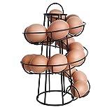 RainbowBeauty 1PC Ei Ständer, Ei-Halter-Speicher Küche Storage Spiral Helter Skelter Egg Halter Ständer Rack-Platz für bis zu 18 Eier Schwarz