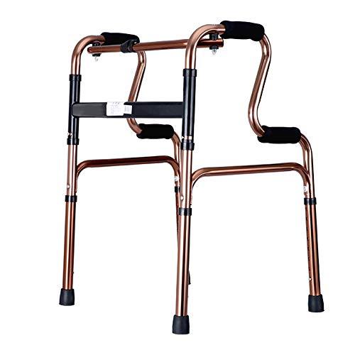 Zfggd gehhilfe für Gehbehinderte ältere Gehhilfe ohne Räder 4 Fuß roségoldfarben