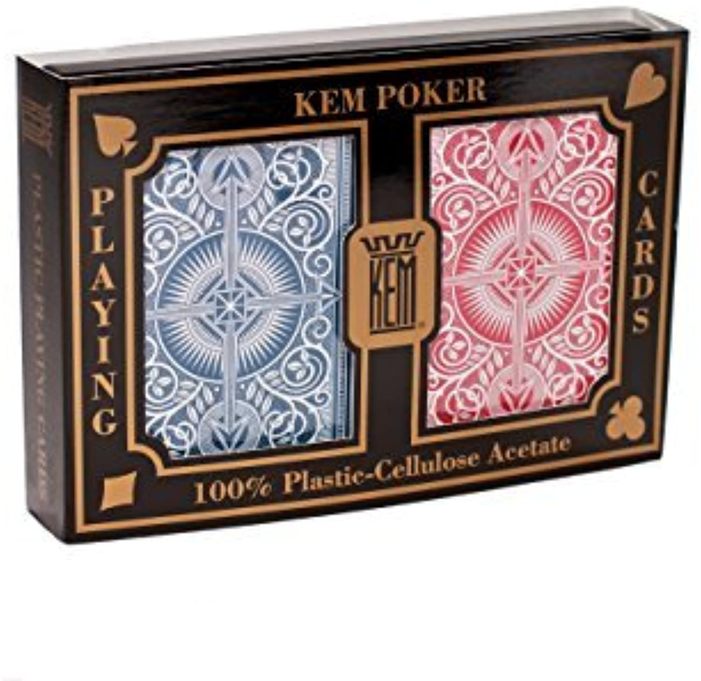 Disfruta de un 50% de descuento. KEM Arrow rojo and azul azul azul Poker Talla Standard Index Jugaring Cocheds by Kem  almacén al por mayor