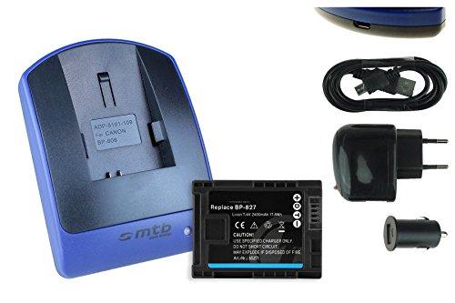 Baterìa + Cargador (USB/Coche/Corriente) BP-827 para Canon Legria HF G10 G25 M31 M32. / S10 S11. / HF20 HF21./ VIXIA. Ver Lista!