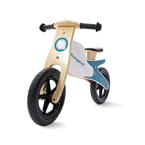 ZNDDB kinder houten balansfiets voor 2-6 jaar oude kinderen verstelbare stoel geen pedaal