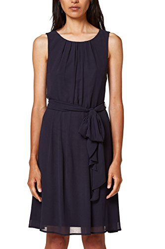 ESPRIT Collection Damen 028EO1E018 Partykleid, Blau (Navy 400), 38
