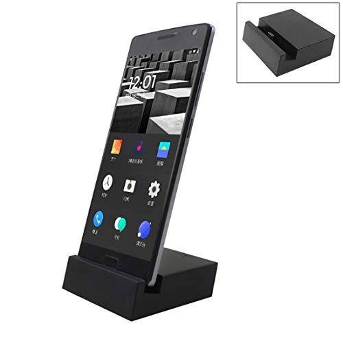 Durable 2 en 1 USB-C/Type-C 3.1 Sync Data/Cargador de Carga de Carga, para Galaxy S8 & S8 + / LG G6 / Huawei P10 y P10 Plus/XIAOMI MI6 y MAX 2 y Otros teléfonos Inteligentes (Negro)