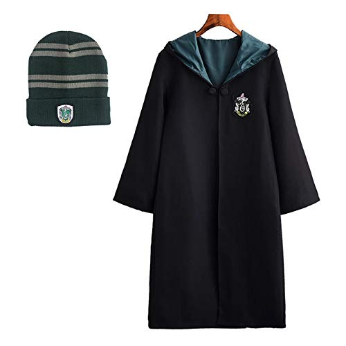 FStory&Winyee Harry Potter Kostüm Kinder Erwachsene Umhang Unisex Gryffindor Hufflepuff Ravenclaw Slytherin Fanartikel Fasching Outfit Set Cape,Brille,Mütze