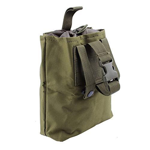 Tactical Molle Dump Pouch,600D Nylon Falttasche EDC Taschen für Outdoor Wandern Camping Jagd (Green)