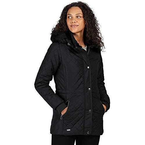 Regatta Zella Veste matelassée Femme avec Doublure Isolante et capuche détachable Baffled/Quilted Jackets Femme Navy FR: S (Taille Fabricant: 12)