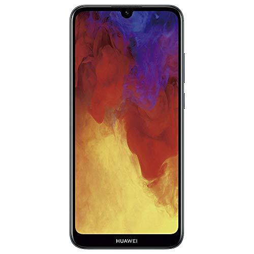 Huawei Y6 2019 MRD-LX3 Teléfono de 6.09 pulgadas con pantalla Dewdrop, 32 GB, 2GB RAM Dual SIM 13MP+ 8MP A-GPS, huella dactilar, desbloqueado de fábrica, sin garantía EE.UU., Neg