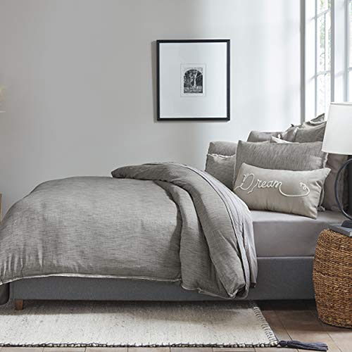 Ed Ellen Degeneres Belmont Duvet Cover Set, Twin, Grey