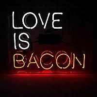 ネオンサイン ネオン 看板 (Love Is Bacon ベーコン) NEON SIGN ネオン管 Open Beer love Bar Sushi Music レストラン いざかや 店舗装飾 料理 ウォールデコ 壁掛け カフェ 喫茶店 居酒屋煉 広告用看板 クラブ及び娯楽場所等 アメリカン雑貨 インテリア