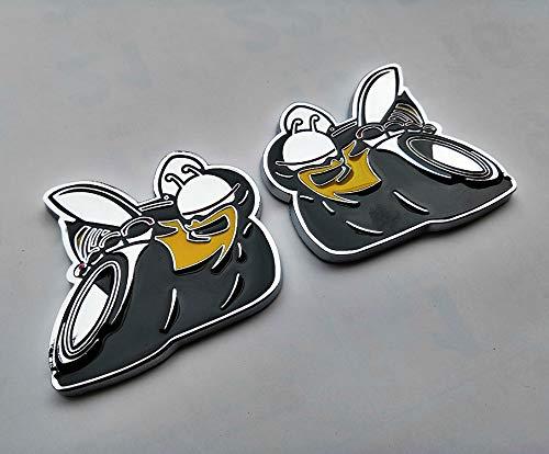 2pcs Metal Super Bee Bumblebee Car Truck Side Fender Rear Emblem Badge...