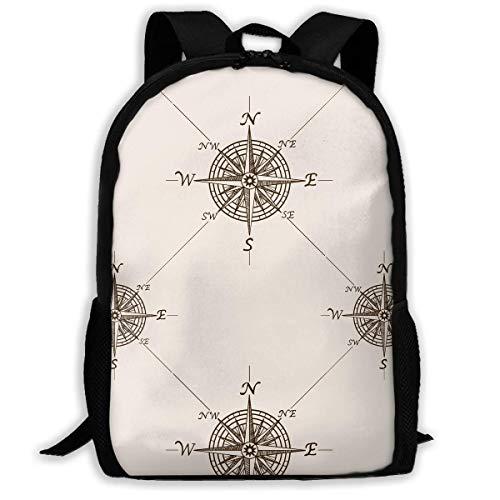 ADGBag Compass Rose Fashion Outdoor Shoulders Bag Durable Travel Camping for Kids Backpacks Shoulder Bag Book Scholl Travel Backpack Sac à Dos pour Enfants
