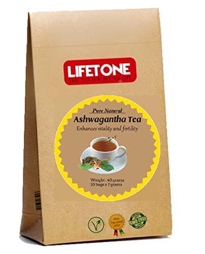 te de raiz de ashwagandha, The Herbal Mood Booster, hierba de la libido, 20 bolsitas de te
