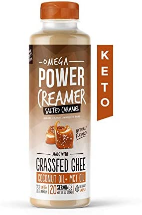 Omega PowerCreamer Salted Caramel Keto Coffee Creamer Grassfed Ghee MCT Oil Organic Coconut product image