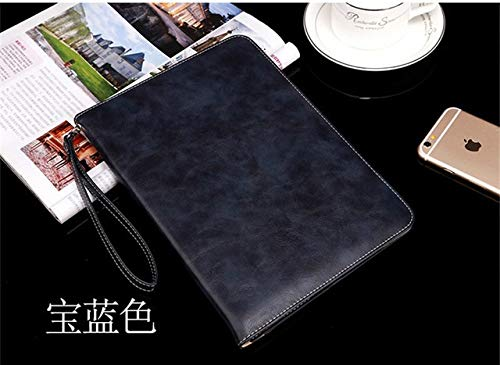 QiuKui Tab Cover For IPad 10.2 2019, New Tablet Stand Smart Cover for IPad 7th Generation PU Leather Cases for IPad 10.2 (Color : Dark blue)