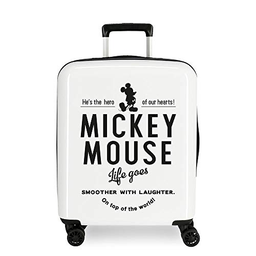 Disney Mickey Style Maleta de cabina Multicolor 37x55x20 cms Rígida ABS Cierre combinación 38.4L 2,9Kgs 4 Ruedas Dobles Equipaje de Mano
