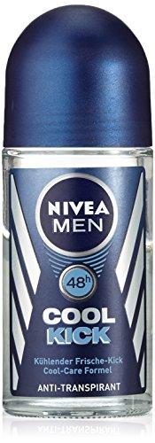 Nivea Men Cool Kick Lot de 2 déodorants rollers anti-transpirants 2 x 50 ml