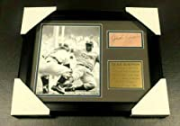 Autographed Jackie Robinson Photo - Cut Facsimile Reprint Framed 8x10 - Autographed MLB Photos