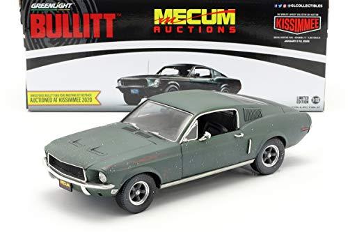 Greenlight Ford Mustang GT Fastback Unrestored Steve McQueen Film Bullitt (1968) grün 1:18