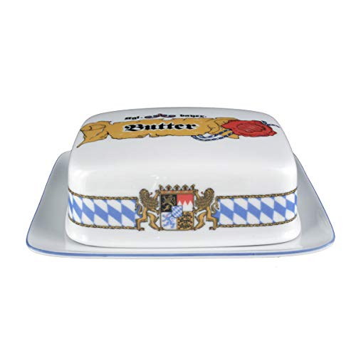 Seltmann Weiden 001.458154 Compact Bayern Butterdose 250 g, Blau/Weiß/Gelb/Rot