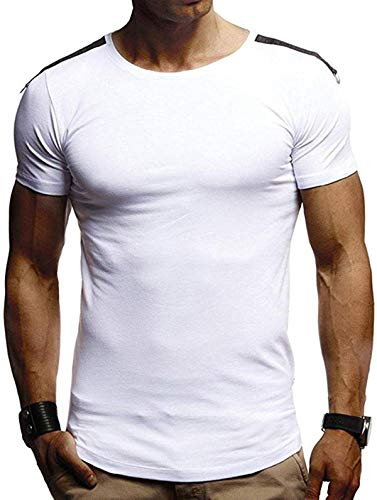 DamonRHalpern Men's Regular-Fit Short-Sleeve Shirt Quick Dry T-Shirt Athletic Moisture-Wicking Dry Fit Running Baselayer Tee Tops