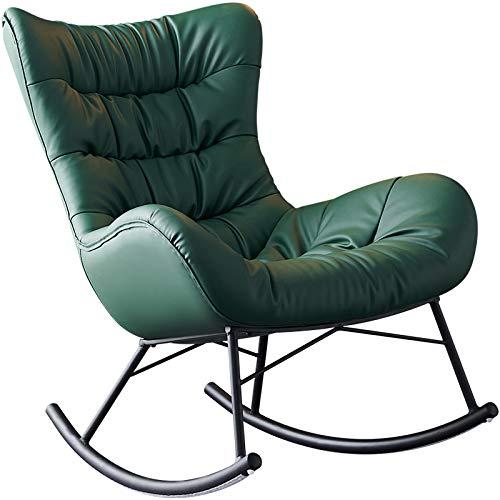 Mecedora de Salón Silla de Relax Sillón Mecedora de Madera para Salón Oficina Terraza Carga 150kg, Sillón Lazy