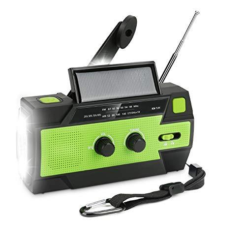 Solar Radio, CestMall 4000mAh Kurbelradio mit...