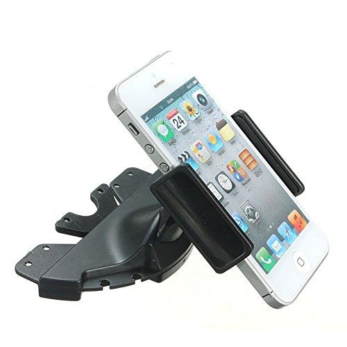 REY Soporte de Teléfono Móvil Universal para la Ranura de CDs del Coche, Sujeción Vehículo