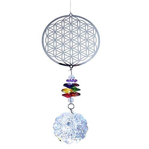 YSMLL Cristal Flor de la Vida Ventana de Arco Iris Ejecución Ornamento Recuerdo Inicio Decoración de la Boda