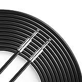 Yoico Pro 100 Feet 12AWG 1/4' to 1/4' Speaker Cable - Heavy Duty 100ft 12 Gauge Speaker Wire Cord for Audio Amplifier - Single