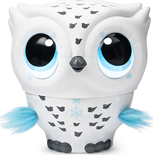 Owleez, Flying Baby Owl Interactive Electronic Pet Toy with Lights and Sounds (White), for Kids Aged...