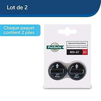 PetSafe - Lot de 2 Piles RFA-67 (6V) - Compatible Collier de Dressage, Anti-Aboiements et Anti-Fugue pour Chien (PBC19-10765, PDBC-300-20, PIG19-10761, PIG19-10764, SBC30-11224, SBC-18E)