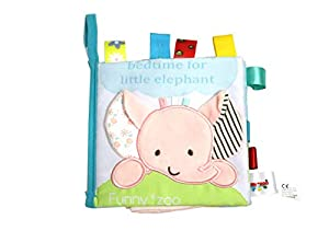 FGen 0-2 Years Old Baby Elephant Cloth Three-Dimensional Cloth Book Early Education Tear Bad Label Cloth Book Label Rattle Toy