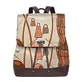 sunminey sac à dos en cuir pour femmes Brazilian Capoeira Instruments Microfiber Leather Shoulder Bag Ladies Elegant Ladies Travel Shoulder Bag Travel bags