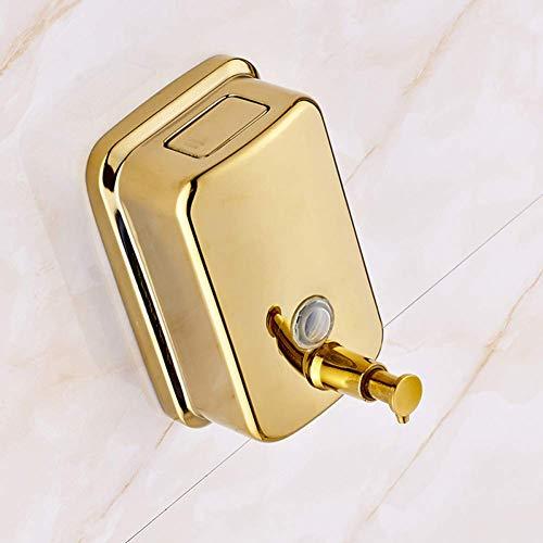 KEKEYANG automático Dispensador de jabón líquido Recipiente de latón Macizo Cuarto de baño dispensador de jabón líquido Oro Pulido de Montaje en Pared Dispensador de jabón