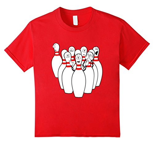 Kids Bowling funny Shirts- funny shirt for bowling 4 Red