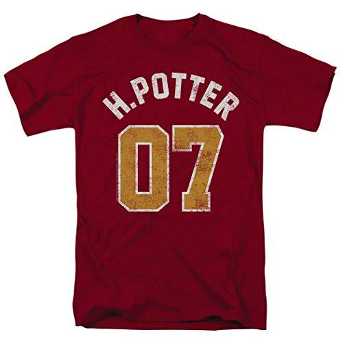Popfunk Harry Potter Quidditch Jersey T Shirt & Stickers (Medium) Cardinal