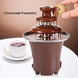 Haofy Fuente de Chocolate Eléctrico de 3 Niveles Fondues de Chocolate de Acero Inoxidable