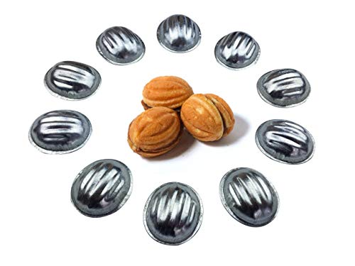 Metal Mold Form Nuts For Sweet Russian Nuts Oreshki Pastry Cookie Nutlets (Set of 40 pcs)