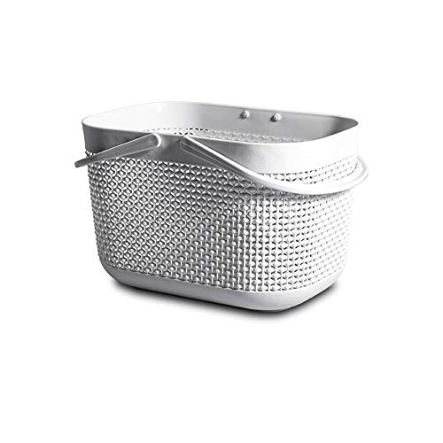 KX-YF Cesta de lavadero Portátil Baño de baño Cesta de Malla de...
