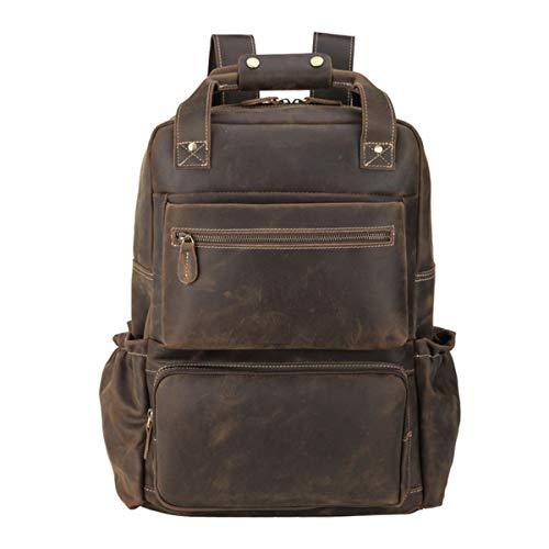 Vints Leather Laptop Backpack for Men Travel Daypack Backpacks...