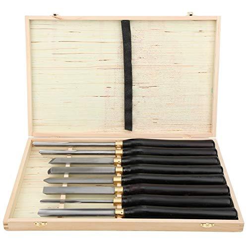Holzdrehmeißel-Drehsatz, 8 Stück Holz Drechselwerkzeug Schnitzwerkzeuge, Holzdrehmeißel mit Holzetui, für Holzarbeiter Holzdreher